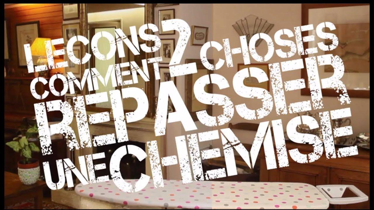 comment repasser une chemise les astuces de kelly youtube. Black Bedroom Furniture Sets. Home Design Ideas