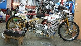 Мотоцикл с мотором от УРАЛА и ЗАКИСЬЮ для рекорда скорости  Мотошкола