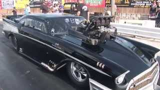 loudest blower whine ever 383ci sbc 57 chevy pro mod