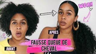 FAUSSE QUEUE DE CHEVAL SUR CHEVEUX COURTS