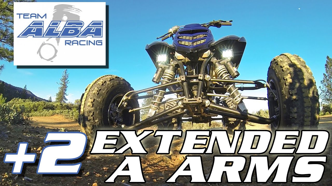 c72e9a69138b Team Alba Racing Extended A Arm +2 Suspension Upgrade for Raptor 700 YFZ  450 and Banshee 350 Review