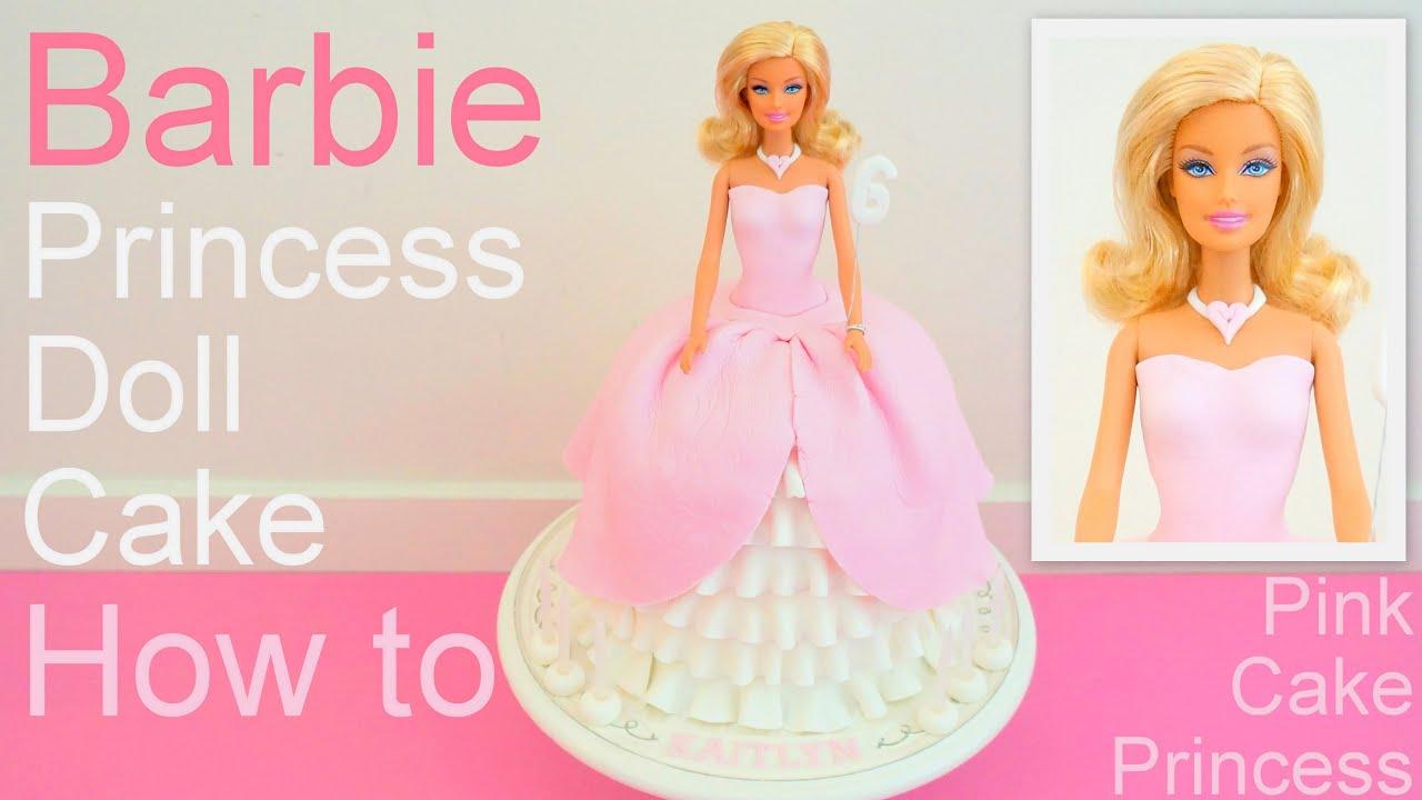 Decorating Barbie Doll Cake With Fondant