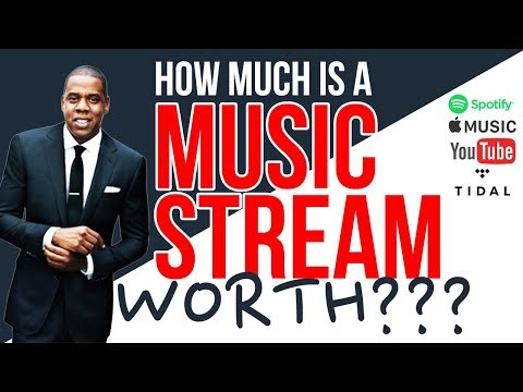 How Much Is A Music Stream Worth??? (Spotify, Apple Music, YouTube, Tidal)