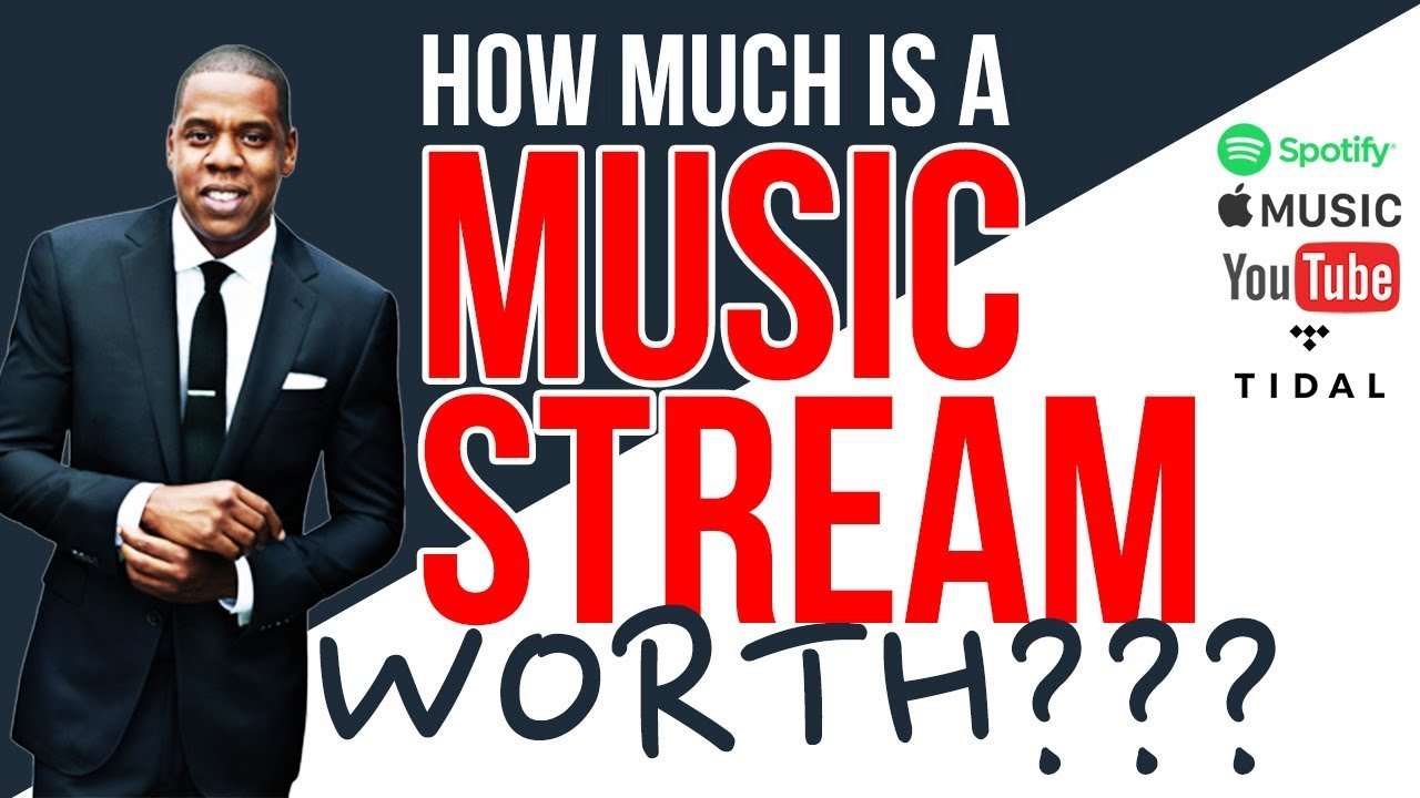 how much is a music stream worth spotify apple music youtube tidal youtube. Black Bedroom Furniture Sets. Home Design Ideas