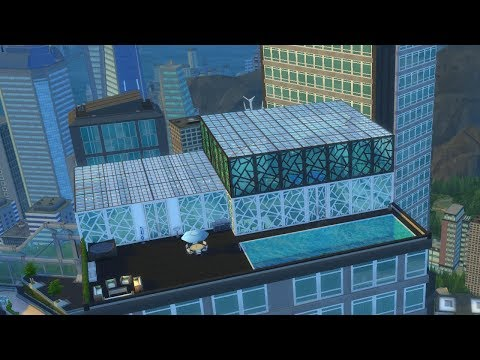 The Sims 4: Luxury Glass Penthouse Build