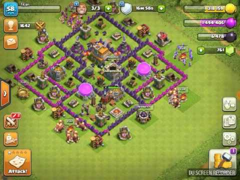 Best Troop Combo For Town Hall 7 Clash Of Clans Youtube