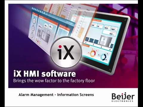 Add and configure Alarm Information Screens in iX Developer. Video 8 by Beijer Electronics