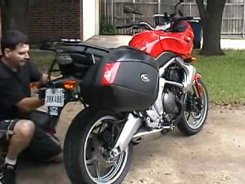 versys luggage sw motech - givi - sealtest - youtube