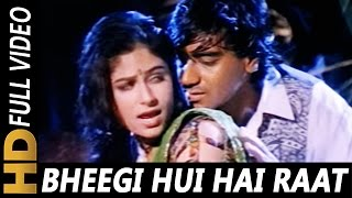 Download Bheegi Hui Hai Raat Magar | Kumar Sanu, Kavita Krishnamurthy | Sangram 1993 Rain Song | Ajay Devgan MP3 song and Music Video