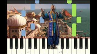 "piano tutorial ""ARABIAN NIGHTS"" from Aladdin 2019, Disney, with free sheet music"