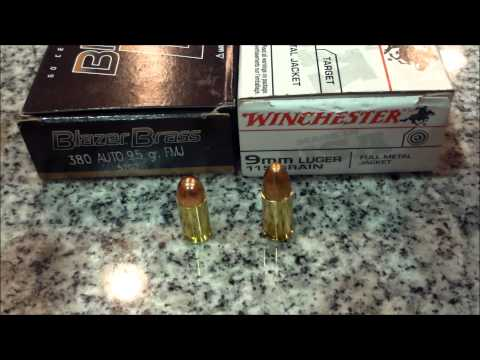 Maintain 9mm and 380 Auto ammo separate, safety message