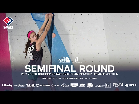 Female Youth A • Semifinals • 2017 Youth Bouldering Nationals • 2/11/17 2:16 PM