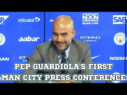 Pep Guardiola's First Manchester City Press Conference As Manager In Full