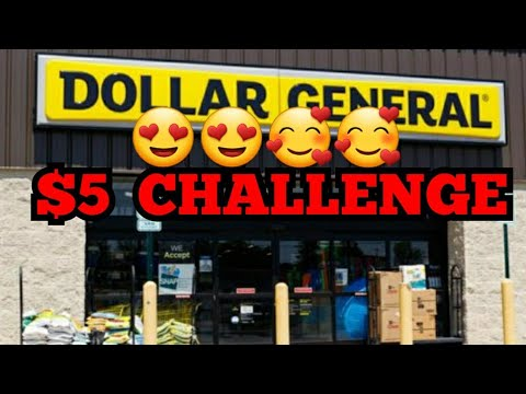 DOLLAR GENERAL $5 CHALLENGE BOOM You Can Do Now