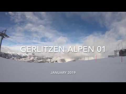 Gerlitzen Alpen skiing 2019 - 1st ride long slope