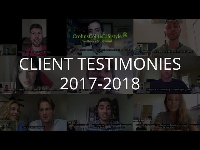 Crohn's Colitis Lifestyle - Testimonies of 2017 and 2018