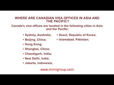 Where are Canadian visa offices in Asia and the Pacific?