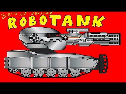 Birth of Monster ROBOTANK - Cartoons about tanks
