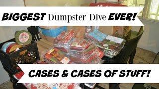 MEGA BIGGEST DUMPSTER DIVE EVER CASES & CASES OF STUFF!