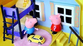 Свинка Пеппа Играет с Джоржем. Мультик о том как Peppa Pig играет с братиком Джоржем.