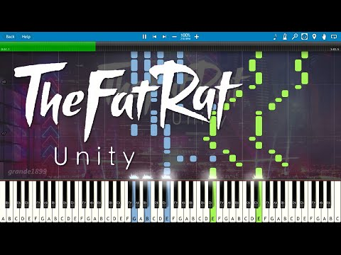 TheFatRat - Unity - Piano Cover / Tutorial (with Sheet Music)