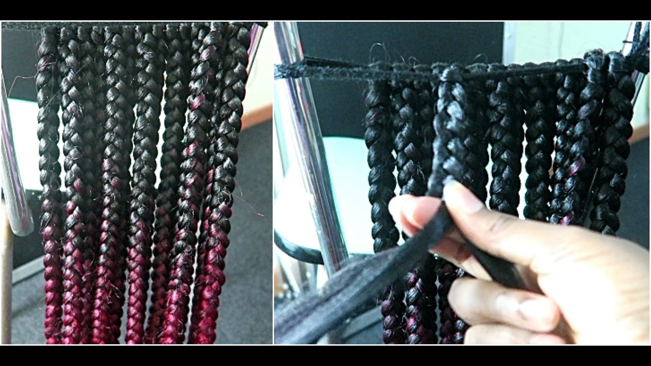 How To Pre Braided Box Braids For Individual Crochet