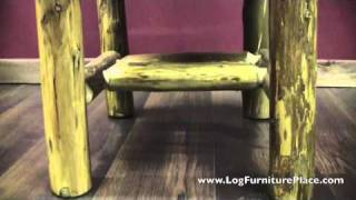 Rustic Comfort Side Log Dining Chair From The Cedar Lake Collection