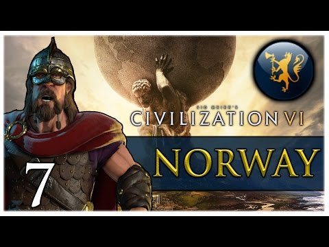EXPANDING DISTRICTS! Civilization VI - NORWAY Gameplay #7
