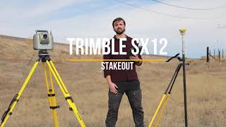 Trimble SX12: Stakeout and Laser Pointer