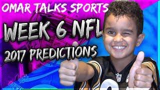 NFL Week 6 Predictions 2017-18 🏈 : Omar Talks Sports