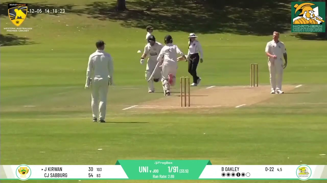 UCC vs Joondalup DCC Round 7 First Grade - James Kirwan 75 (187) Highlights Package