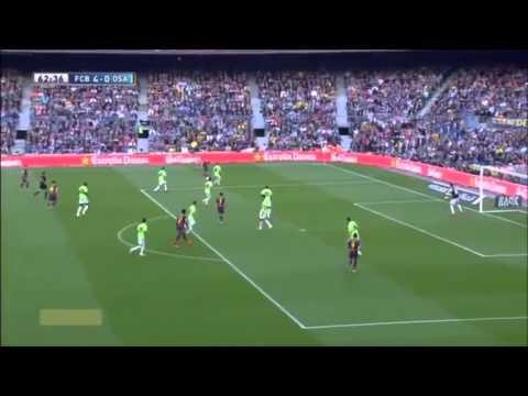 Video Barcelona vs Osasuna 7-0 [16/03/2013]