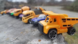 Toy Cars Slide Dlan Play Small Cars and Small Trucks Play Video for Kids