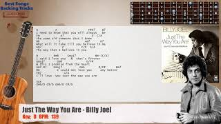 🎸 Just The Way You Are - Billy Joel Guitar Backing Track with chords and lyrics