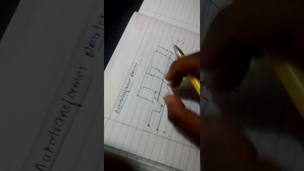 Howto Draw Auto Transformer Starter Circuit Diagram Youtube Autotransformer Motor Wiring