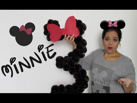 DIY  -   Decoração para mesa da  Minnie