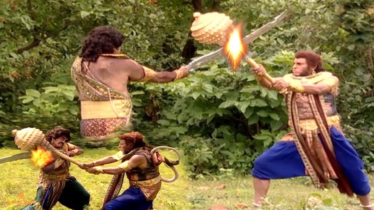 Download देखिए बाली ने कैसे रावण के अहंकार को पैरों तले रौद दिया - Bali Ravan Yudh - Bhakti Video