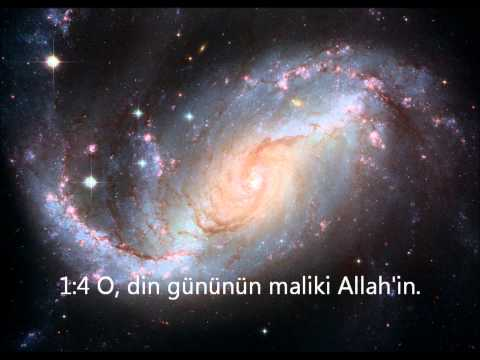 Quran Chapter 1 - Surah Fatiha - Turkish Translation