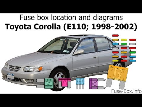 [WLLP_2054]   Fuse box location and diagrams: Toyota Corolla (1998-2002) - YouTube   1998 Toyota Corolla Fuse Box      YouTube