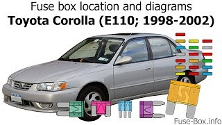 Fuse box location and diagrams: Toyota Corolla (1998-2002) - YouTube | 98 Chevrolet Prizm Fuse Box |  | YouTube