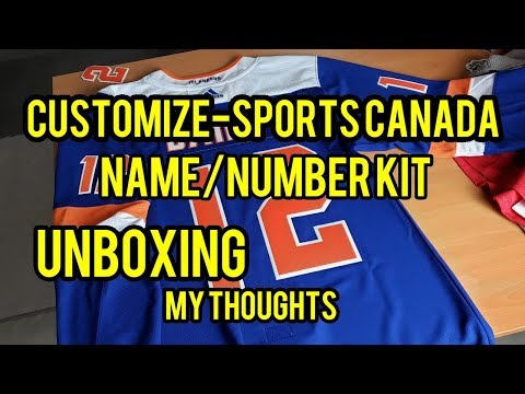 Customize-Sports Canada Number Kit Unboxing! My Thoughts