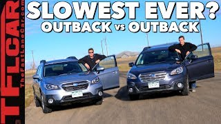 Old vs New Drag Race! You Won't Believe How Slow the Subaru Outback is From 0-60 MPH