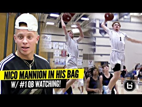 Nico Mannion In His BAG w/ #1 QB Watching!! Near Triple Double! Marcus Libman Goes STEPH MODE!