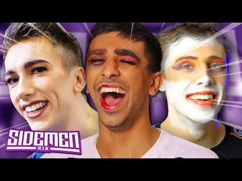 THE SIDEMEN TRY ON MAKE UP!