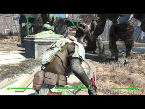 Fallout 4: Strong the Super Mutant Companion vs Swan (Melee)
