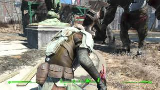 Fallout 4 Strong the Super Mutant Companion vs Swan Melee