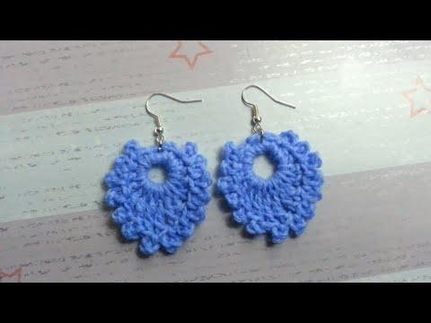 How to Crochet 5-minute Earrings