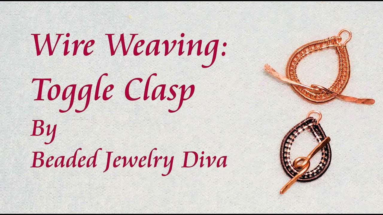 Wire Weaving - Toggle Clasp - Wire Weaving Tutorial - YouTube