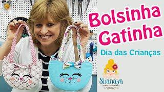 Bolsinha Gatinha para o Dia das Crianças – Shanaya Atelier