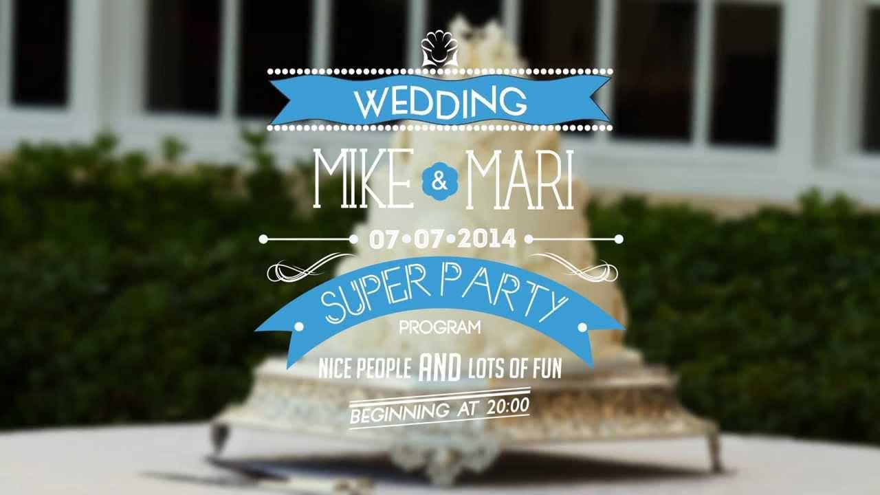 Typographic Wedding Invitations